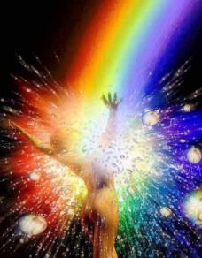 Banho de cor cromoterapia raios coloridos_n