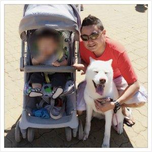 Morador se preocupa com bem estar do filho e do cão (Foto: Arquivo pessoal)